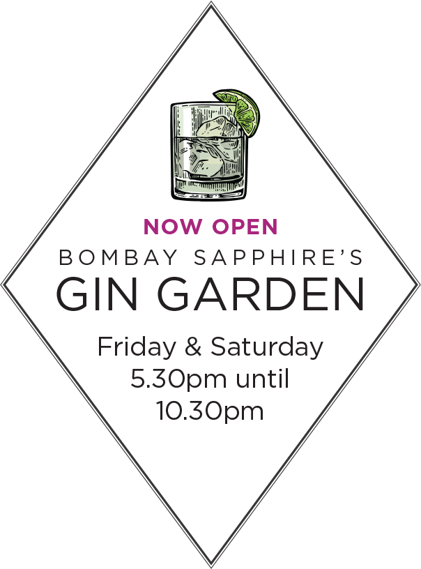 92ad16ab Bombay Sapphire's Gin Garden Opening Fri 31 May at Aspers Casino Westfield  Stratford City